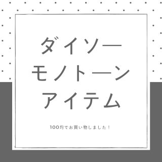 【100均】ダイソーのモノトーングッズ【モノクロ】