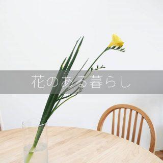 プチプラ!1本でOK。オシャレなお花の飾り方|花のある暮らし